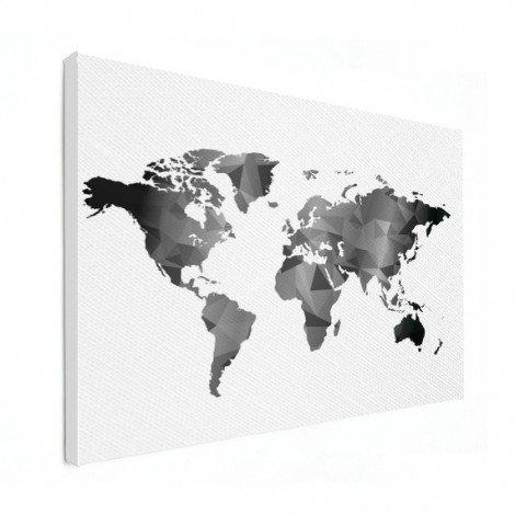 Geometric - Black And White Canvas