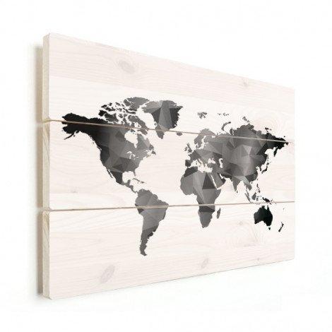 Geometric - Black And White Wood