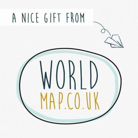 Gift voucher £ 100,00 Worldmap.co.uk