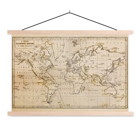 Magnetic Curves Classroom World Map