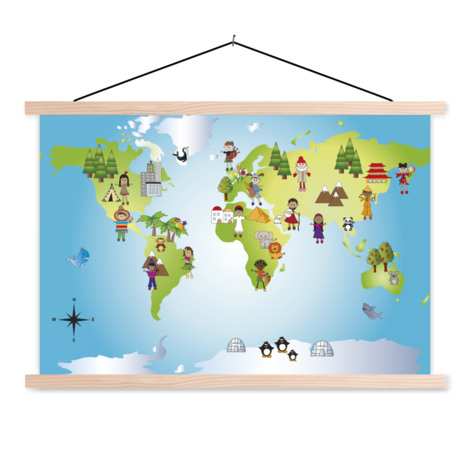 Local Friends Classroom World Map