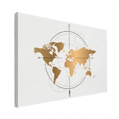 Compass Gold Canvas