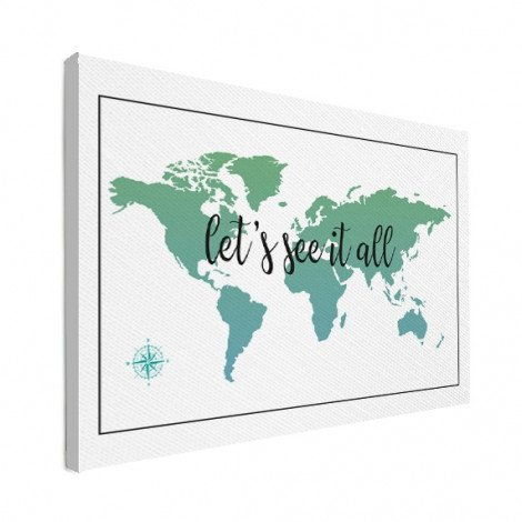 Text See It All With Compass Canvas