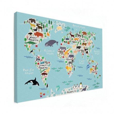 Animals Of The World Canvas
