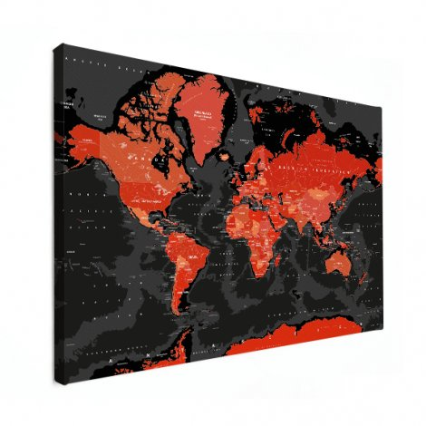 Red - Black Canvas