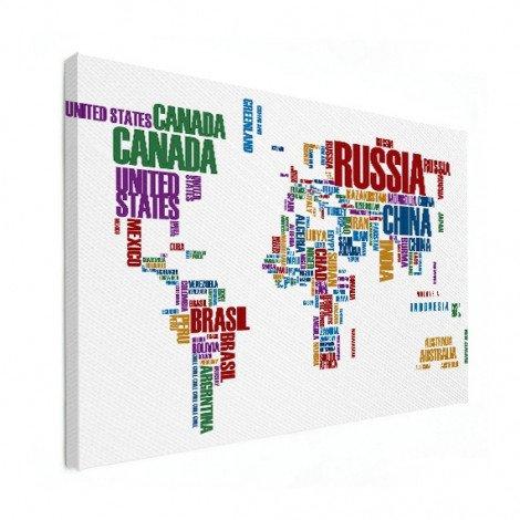 Text Coloured Canvas