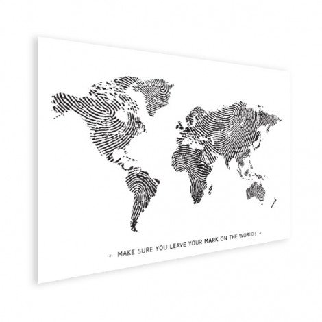Fingerprint - Black And White With Text Poster