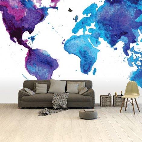 Watercolour Blue Wallpaper
