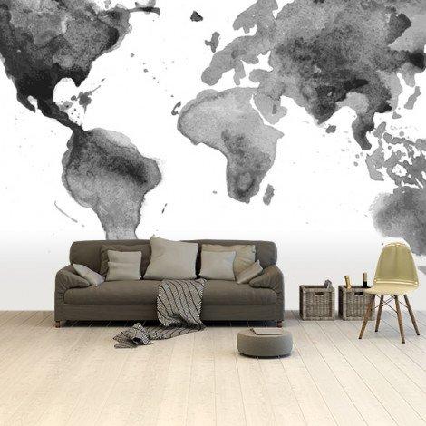 Watercolour - Black/White Wallpaper