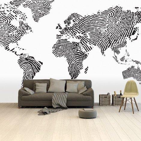 Fingerprint - Black/White Wallpaper