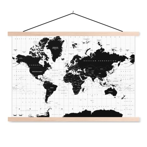 Informative Classroom World Map