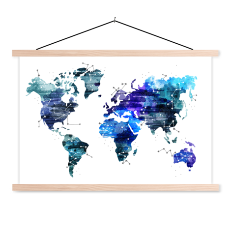 Starry Sky Classroom World Map