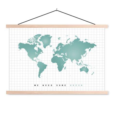 Mintgreen Classroom World Map