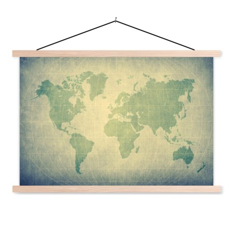 Parchment Green Classroom World Map