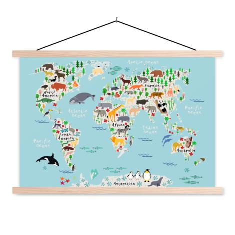 Animals Of The World Classroom World Map