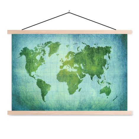 Parchment Bright Green Classroom World Map