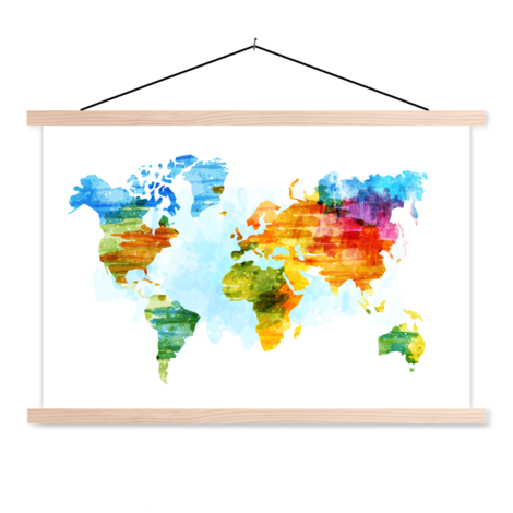 Watercolour Classroom World Map