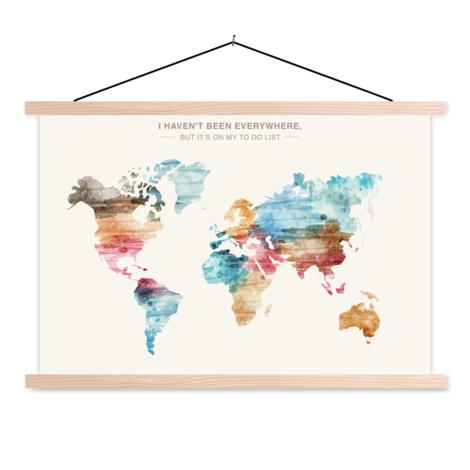 Paint Text Classroom World Map
