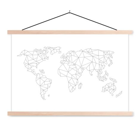 Geometric Line Classroom World Map