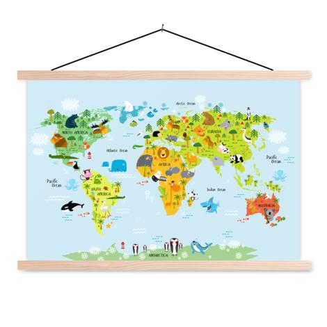 Animals Of The World - Baby Classroom World Map