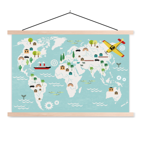 Technical Classroom World Map