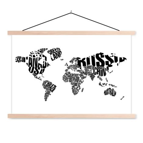 Text Black Classroom World Map