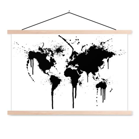 Black Ink Classroom World Map