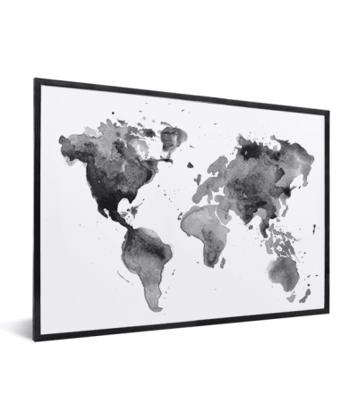 Watercolour Black - White In List