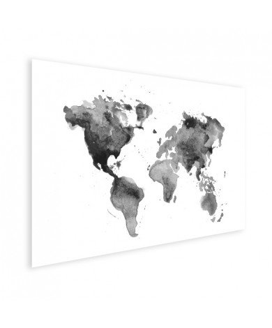 Watercolour - Black And White Poster