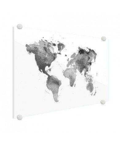 Watercolour - Black And White Glas