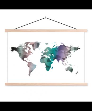 Geometric Colour Classroom World Map
