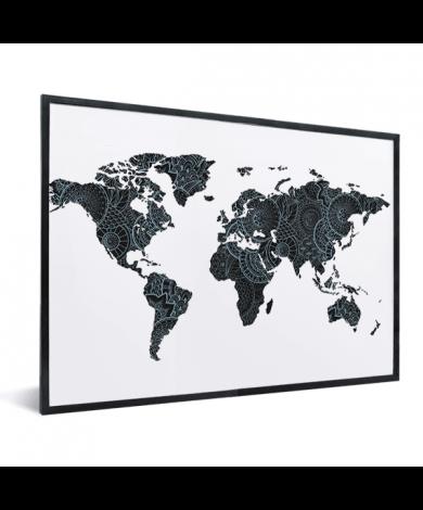 Asian Print Black-Blue In List