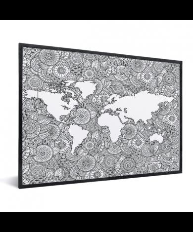 Asian Print Black-White In List