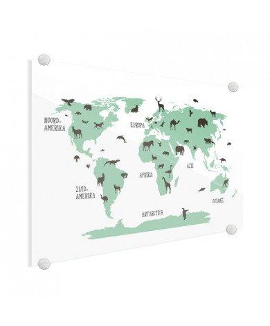 Animals Green Glass