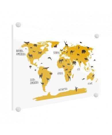 Animals Yellow Glass