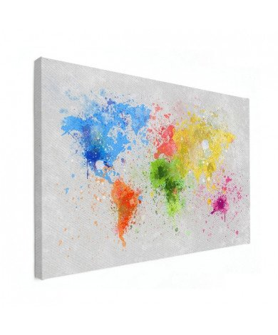 Coloured Ink Canvas
