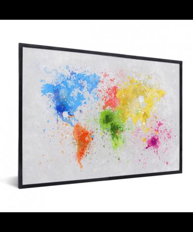 Coloured Ink Splash In List