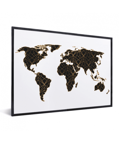 Geometric Black-Gold In List