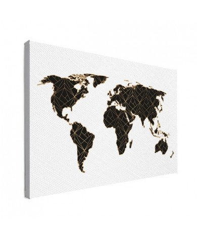Geometric Black - Gold Canvas