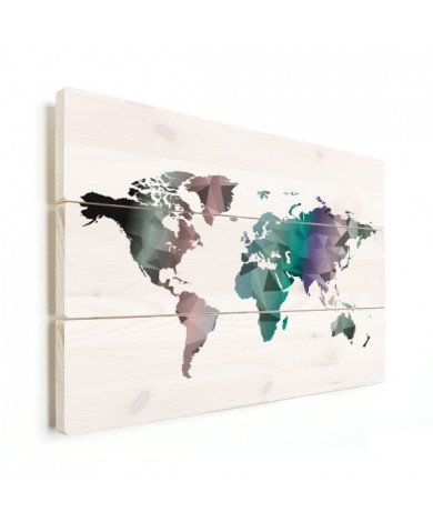 Geometric - Colourful Wood