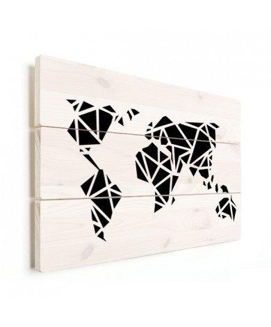 Geometric - Black Wood