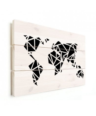 Geometric - Black Wood
