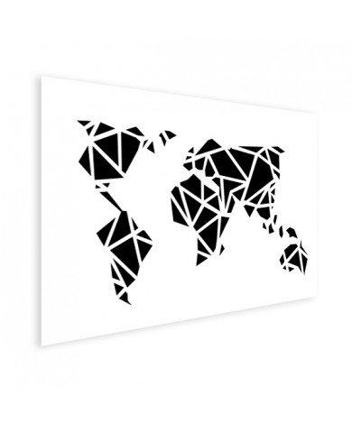 Geometric - Black Poster