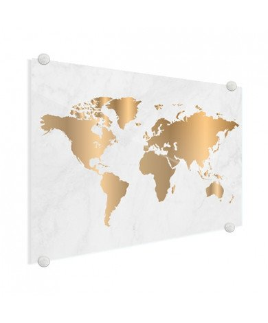 Gold Marble Glass