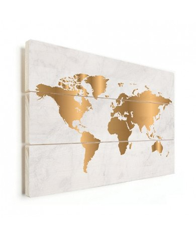 Gold Marble Wood