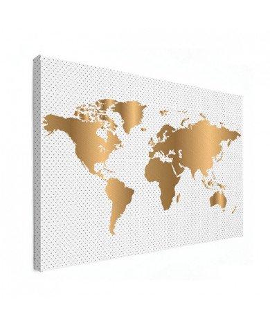 Gold Dots Canvas