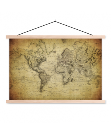 Vintage Classroom World Map