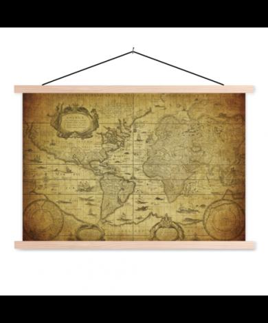 Illustration Classroom World Map