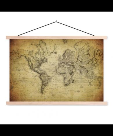 Vintage Classroom World Map