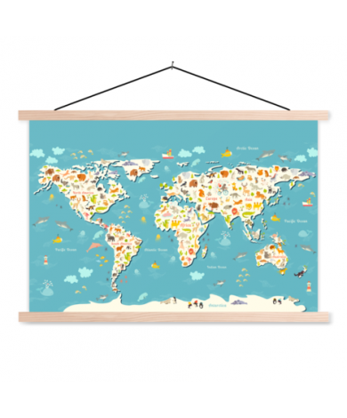 Animal Puzzle Classroom World Map